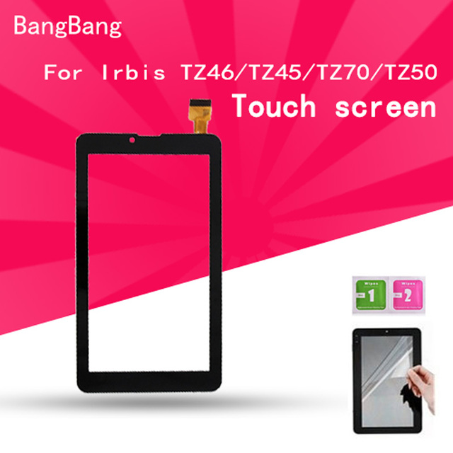 7 inch Black Touch Screen panel with Digitizer For Irbis TZ46/TZ45/TZ70/TZ50 Tablet LCDs & Panels + Screen Protector Film