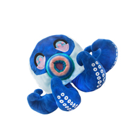 cute blue octopus head Pillow Plush Stuffed Toy36CM monster cap short plush halloween