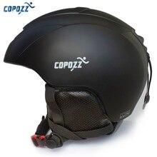 201fe7718604c COPOZZ Capacete Integralmente-moldado capacete do Snowboard do Esqui Das  Mulheres Dos Homens de Patinação