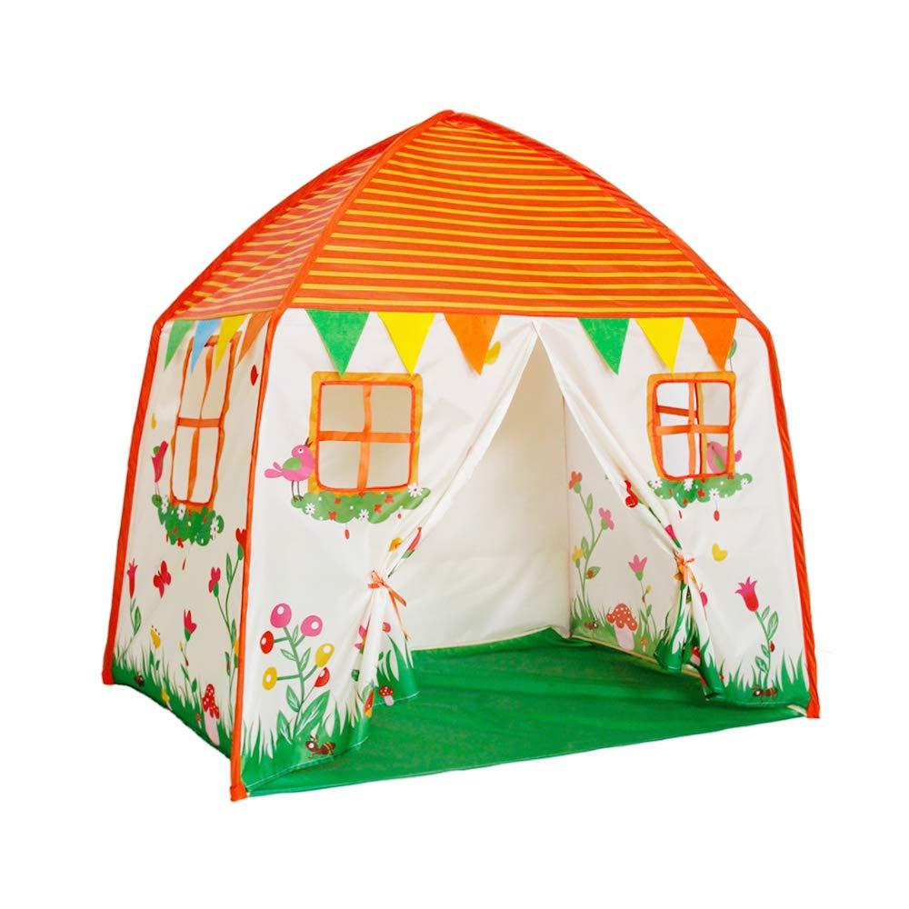 Grande maison de jeu pour enfants-chambre de bébé en Polyester, maison de tente de jeu, cadre robuste et fenêtres de Mess, facile à mettre en place et à enlever