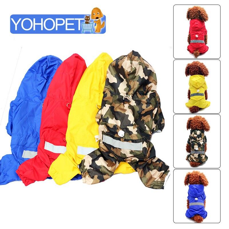Barnd New Pet Dog Raincoat Jackets Dogs Rainwear Rain Jacket Large Dog Raincoat Waterproof Dog Rain Slicker Camouflage Rain Coat