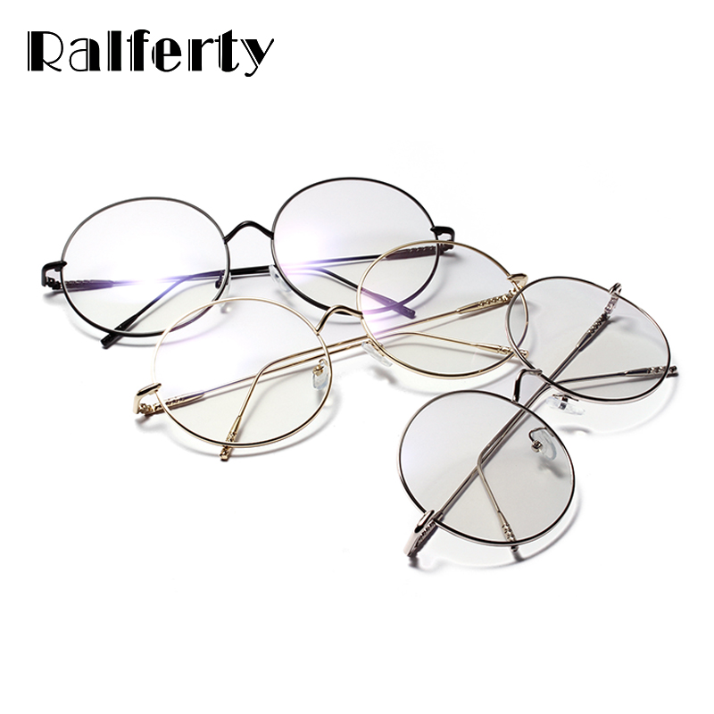 13b6c7a509 Ralferty 2018 Oversized Round Eyeglasses Frame Decorated Circle Eyewear Eye  Glasses Frames For Women Lunette Spectacles W18518-in Eyewear Frames from  ...