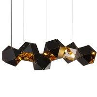 Современные реплики Джек Dixon веб etch Геометрия золотой кирпич подвесной светильник E14 лампы Shadow для жизни исследование Kitche простой лампа