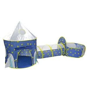 Image 4 - خيمة الأطفال 3 في 1 سفينة الفضاء خيمة الفضاء خيمة يورت لعبة منزل سفينة الصواريخ تلعب خيمة بركة الكرة