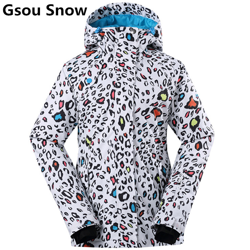 GSOU SNOW Brand Ski Jacket Women Winter Snowboard Jacket Waterproof Breathable Female Super Warm Outdoor Sports Jackets High-Q running river brand winter thermal women ski down jacket 5 colors 5 sizes high quality warm woman outdoor sports jackets a6012