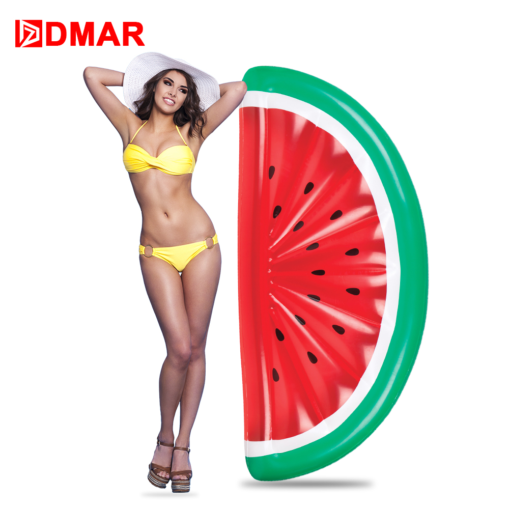 DMAR Giant Pool Float Inflatable Mattress Toys Watermelon Pineapple Cactus Beach Water Swimming Ring Lifebuoy Sea Party Beach tlt beach party