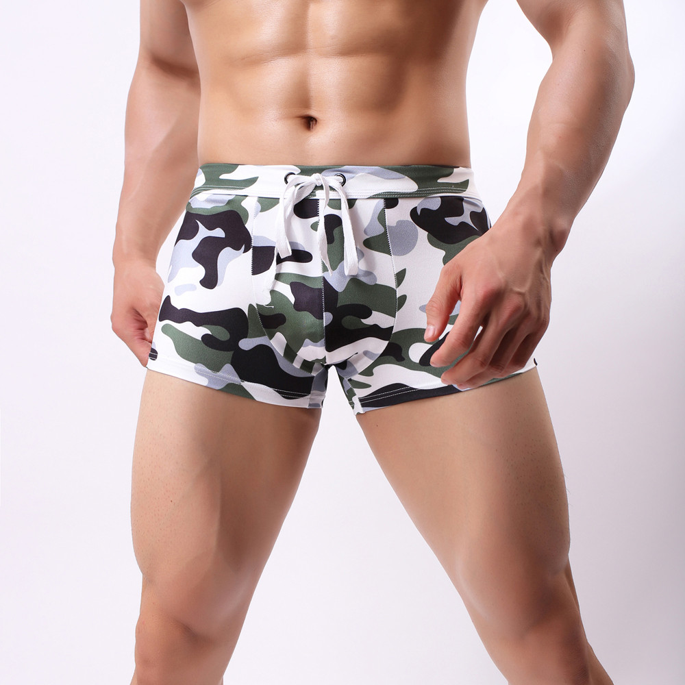 Brand Swimwear Men Swimming Trunks Sexy Swimsuit Beach Briefs Swimming Short Men Swimwear Sunga Maillot De Bain Homme *E