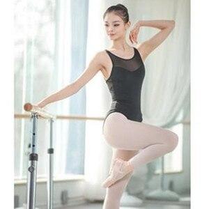Image 2 - Leotardos de Ballet de tirantes de malla para mujer, uniformes de Ballet para adultos, Mono para gimnasia con tirantes cruzados en la espalda, para verano, 2019
