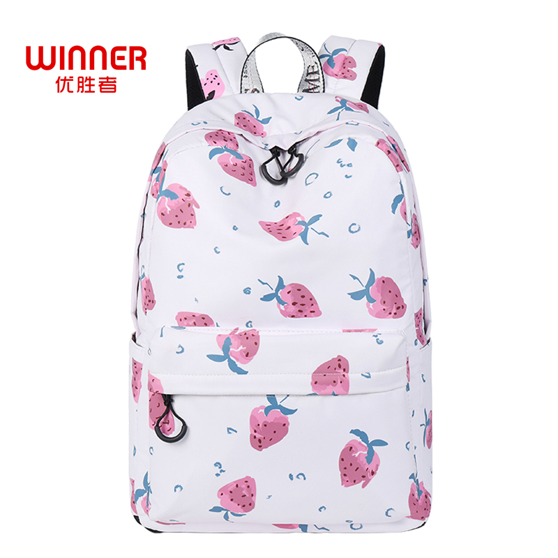 WINNER Fashion Printing Strawberry Backpack School Bags For Teenager Girls Book Bag Large Capacity Travel Bag Mochilas Femininas kawaii cat printing backpack for teenager girls mochilas femininas women laptop backpack large capacity flower travel backpack