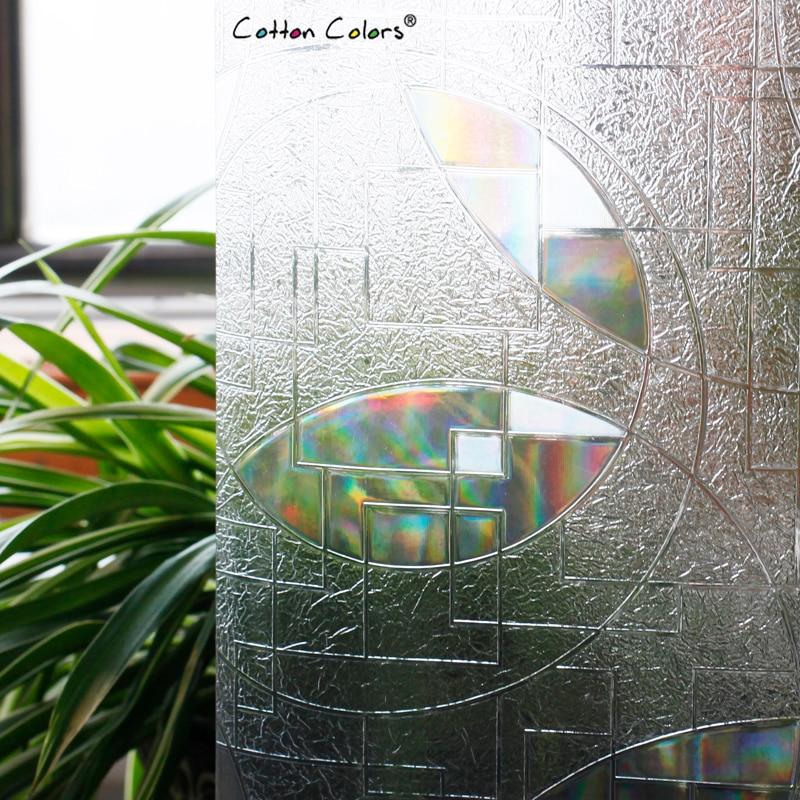 CottonColors Salle De Bains Glasse Couverture PVC Fenêtre Film - Décor à la maison - Photo 2