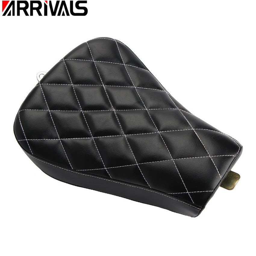 Motorcycle Front Driver Solo Seat Black Rear Cushion Pad For Harley Sportster XL 1200 883 все цены