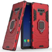 For Samsung Galaxy Note 9 Case Magnetic Finger Ring Kickstand Hard Cover