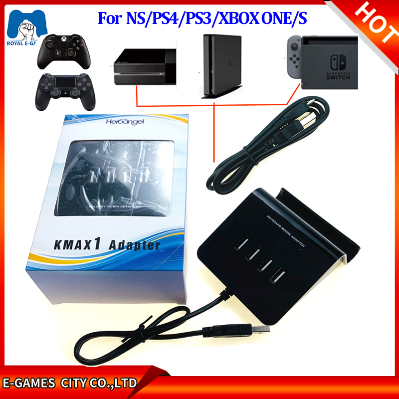 Usb Hub Game Controllers Adapter Converter Video Game Keyboard Mouse Adapter For Nintendo Switch Xbox One S Ps4 Ps3 Accessories Replacement Parts Accessories Aliexpress
