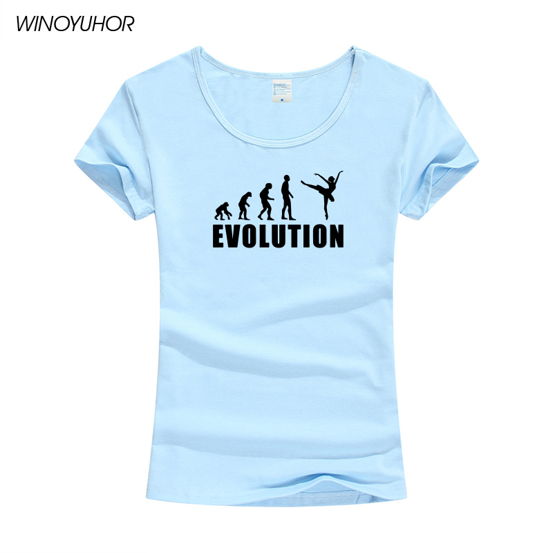 Evolution Of Ballet Dancer Tee Women Summer Funny Short Sleeve Female Tops Fashion Casual T Shirt Brand Clothing