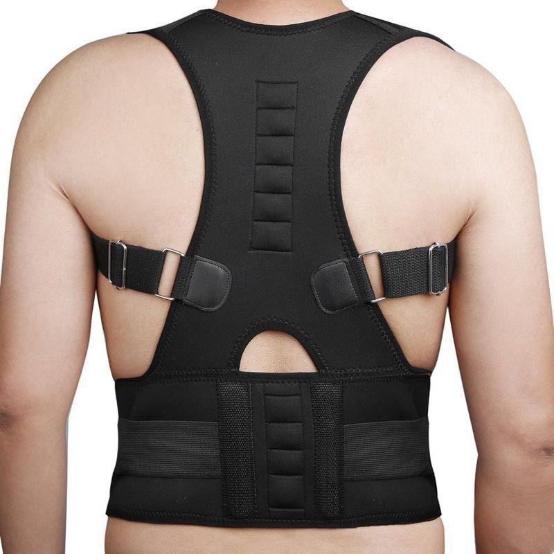 Adjustable Male Female Magnetic Posture Corrector Corset Men Brace Back Belt 10 Magenets B002