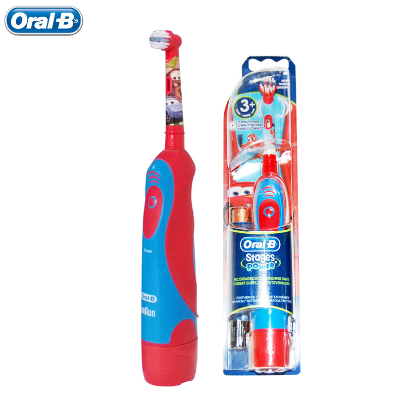 Oral B Children/kids Electric Toothbrush Pixar Cars Boy Tooth Brush Dental Care Waterproof  with two AA batteries Зубная щётка