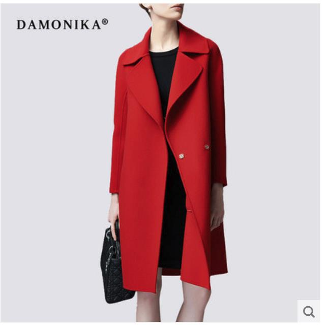 Women s long 2018 new woolen overcoat for women fall and winter