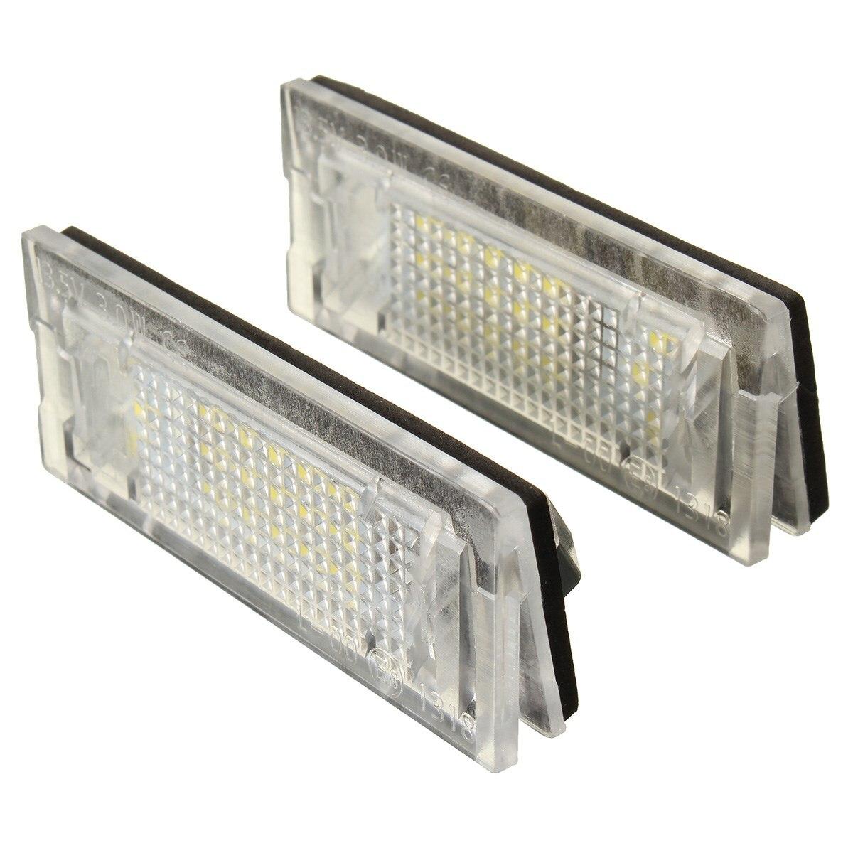 2x White LED Number License Plate Lights font b Lamp b font Fit For BMW E46