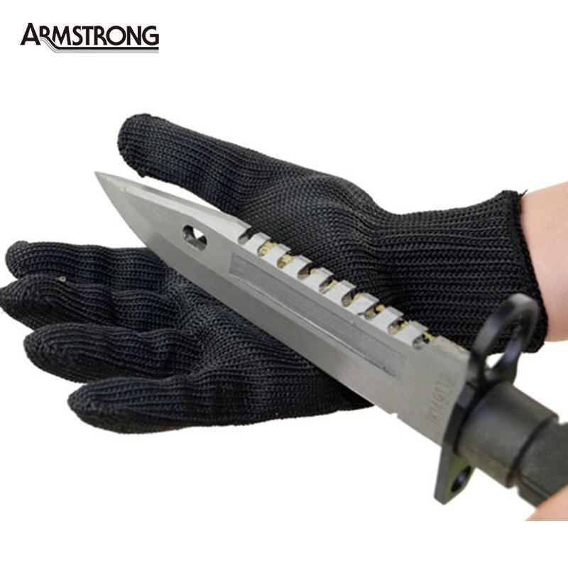 1 Pair kevlar Gloves Proof Protect Stainless Steel Wire Safety Gloves Cut Metal Mesh Butcher Anti-cutting Work Gloves(China (Mainland))