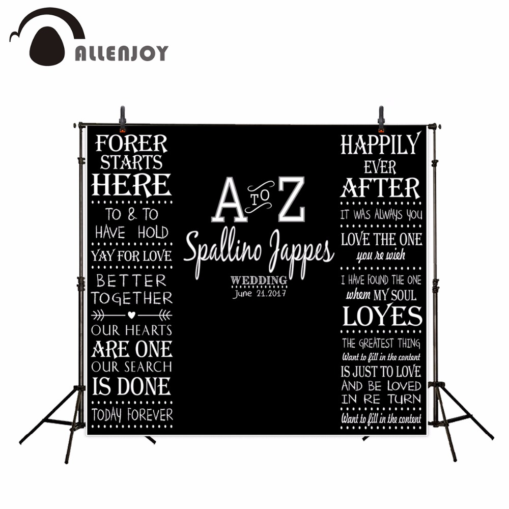 Allenjoy backgrounds for photo studio black bottom customized love backdrop wedding background filming excluding bracket harman kardon onyx studio 2 black