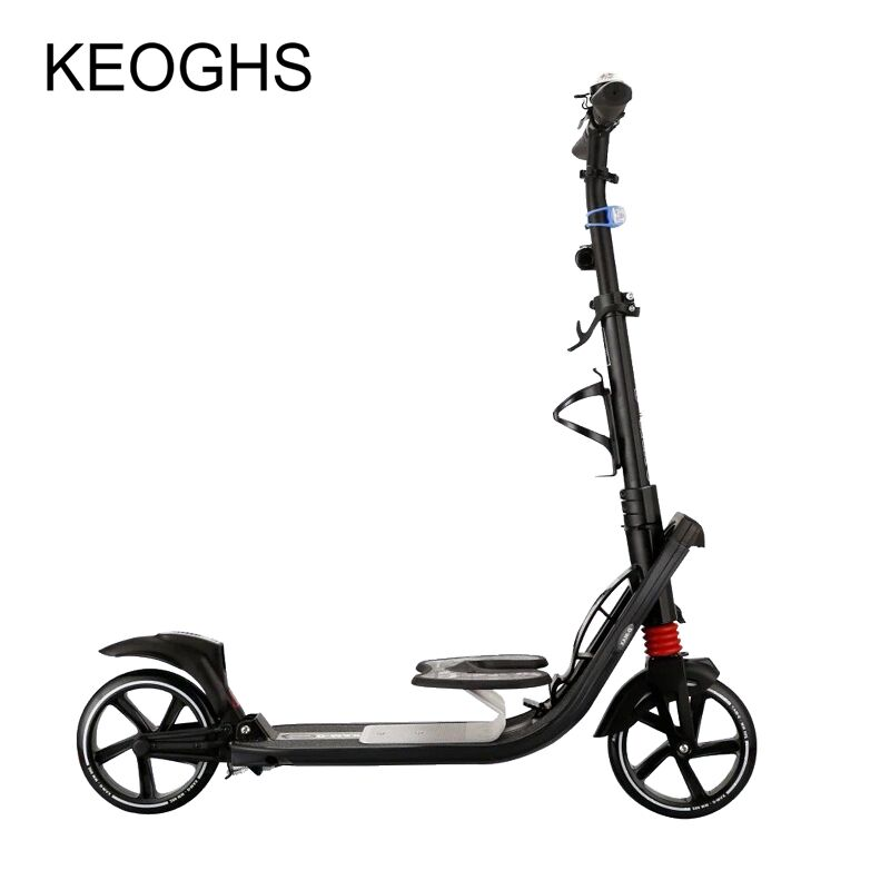 adult kick children scooter foldable PU 2wheels outdoor sports  all aluminum urban campus transportation electric kick scooter foldable aluminium alloy electric scooter for adult lcd display 2 wheels led light 120kg load hot sale