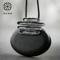 2018 New Sandalwood Women Pendant Necklaces Sweater Accessories Wooden Fashion Jewelry Trendy Necklace Pendant Wholesale