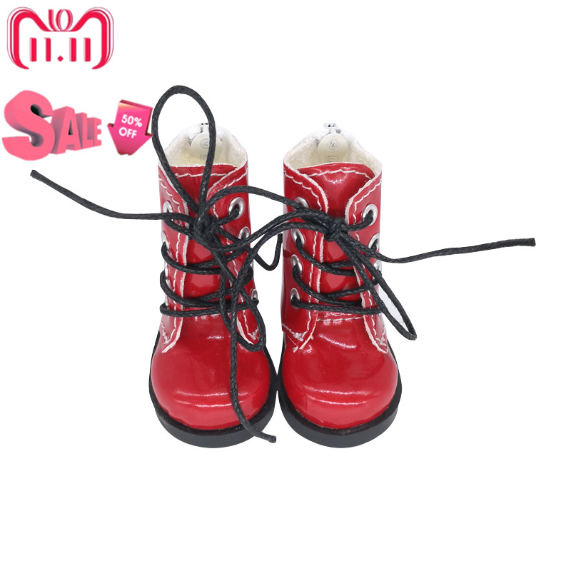 Tilda 5cm 1/6 Doll Boots Shoes For BJD Doll,Mini Boots for Textile Doll Boots PU Leather Shoes for Handmade Dolls Accessories цена