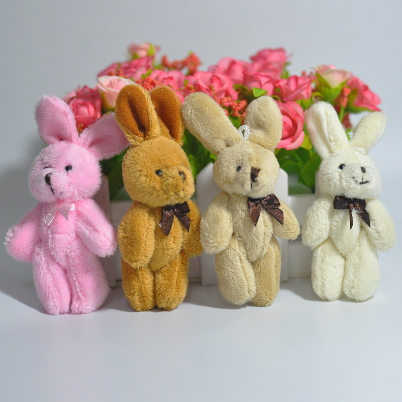 2Pcs/Set Wedding Gift Joint Rabbit Bouquet DOLL TOY DIY Pendant Plush Stuffed TOY Soft Figure Candy Box DOLL TOY 4Colors couple frog plush toy frog prince doll toy doll wedding gift ideas children stuffed toy
