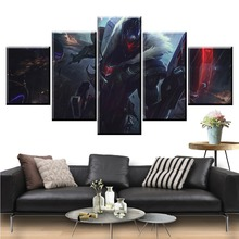 5 Panel LOL League of Legends Khada Jhin Game Canvas Printed Painting For Living Wall Art Home Decor HD Picture Artworks Poster