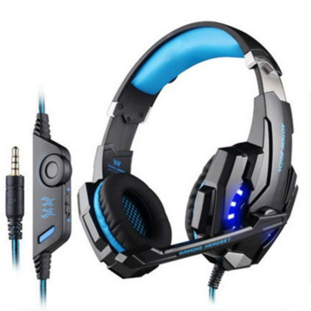 G9000 Gaming Headphone 3.5mm Game Headset Headphone for PS4 Laptop Tablet Mobile Phone Wired Headset with Mic LED Light