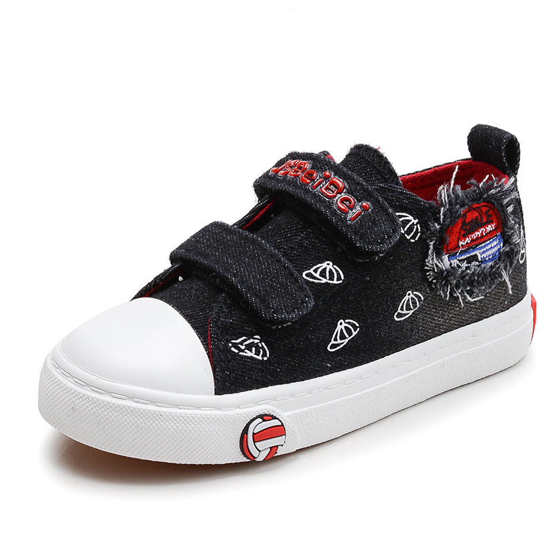 2017 Denim Jean fashion Cool boys girls baby sneakers canvas cow muscle patch kids shoes breathable high quality children shoes