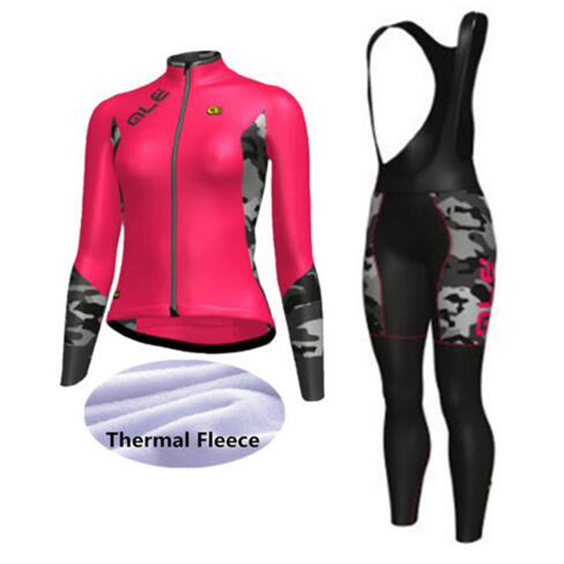 2018 women winter thermal fleece cycling clothing ropa ciclismo invierno mujer bicicleta MTB cycling jersey bicycle clothes kit black thermal fleece cycling clothing winter fleece long adequate quality cycling jersey bicycle clothing cc5081