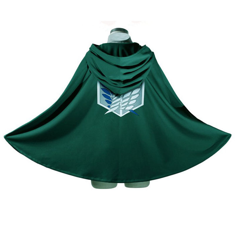 Umorden Anime SNK Shingeki no Kyojin Wings of Freedom Attack on Titan Costume Cosplay Cloak Gown Robe Halloween Costumes for Men