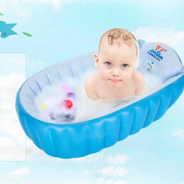 2017 Nueva Caliente Bañera Portátil 95*60*65 cm Cojín Portátil Plegable Bañera Bañera Bañera Inflable Infantil