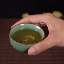 4 Colores Cuencos De Té Copa de Oro Taza de Pescado Chino Longquan Celadón Juego de Té de Porcelana