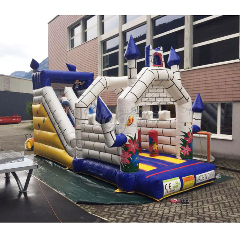 Children air jumping trampoline inflatable bouncer combo slide for sale купить недорого в Москве