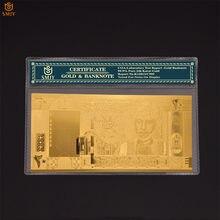 Billete de oro de Omán 20 Rial Omani 24k papel chapado puro oro dinero recuerdo regalo Bill Collection