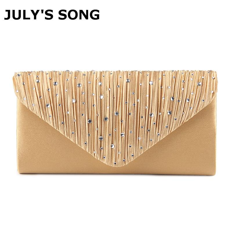 JULY'S SONG Woman Evening Bag Women's Diamond Rhinestone Clutch Crystal Day Clutch Wallet Wedding Purse Party Banquet HandBags