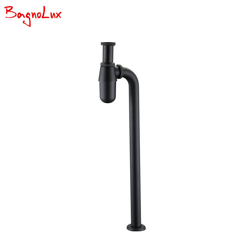 купить BagnoLux Wholesale Siphon Bottle Trap Basin Waste Drain Mixer P-Trap Pipe Bathroom Accessories Deck Mounted Plumbing Tube 0421 по цене 2366.31 рублей