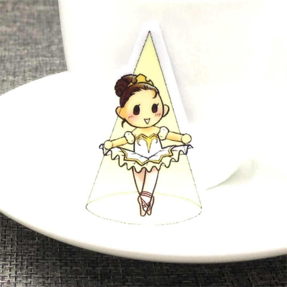 40 различных мини балет девушка бумажная наклейка украшения DIY Ablum Стикеры для дневника Scrapbooking этикетка кавайная наклейка