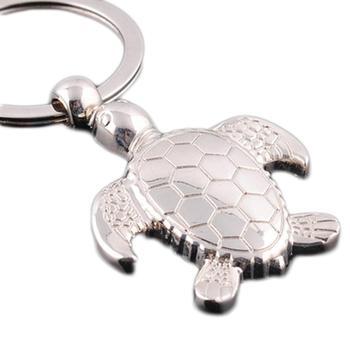 1pc creative novelty pendant animal tortoise Turtle fashion metal key ring keychains key finder gift club promotion Souvenir