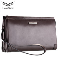 2018 Luxury Brand Real Leather Men Clutch Wallets Big Capacity Phone Bag Cowhide Wallet Fashion Men Wallet Retro Male Purse