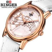 New Original Binger Watches Fashion Cute Women Ladies Girls Quartz Bracelet Leather Wrist Watch Birthday Gift with Package