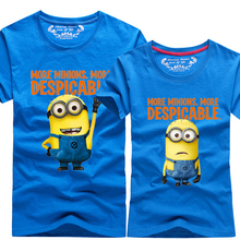 2017 Summer New Despicable Me 2 Minions T Shirt Lovers Clothes O Neck Short Sleeve Matching
