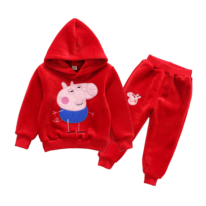 Mihkalev Cartoon toddler boys clothing set Hooded sweatshirts tops and pants 2 pieces kids clothes girls sport sutis costume on sale boys clothing set kids sport cartoon cotton clothes suit boys clothes sweater pants 2pcs clothing set kids set