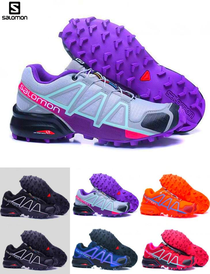 Salomon Chaussures zapatos hombre Sneakers Femmes Speed Cross 4CS III sapato masculino Speed cross Sport en plein air Chaussures de course 36- 40