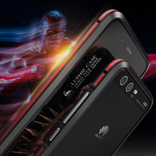 Luphie Metal phone case for Huawei P10 case Luxury Aluminum frame Double color Bumper for Huawei