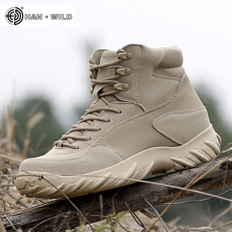 Men Army Combat Boots Leather Lace Up Waterproof Ankle Tactical Boot Man Plus Big Size Military Work Shoes Mens