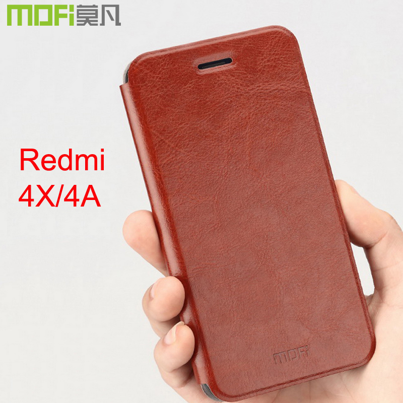 timeless design 8c3fc b93fa Xiaomi Redmi 4X Case Flip Cover 16Gb Xiaomi Redmi 4 X Leather Funda Yzp 5.0