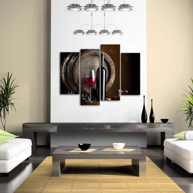 US $22.96 18% di SCONTO|Vino E Frutta Con Vetro Barile di Arte Della Parete  Pittura Per cucina Picture Stampa Su Tela Casa Moderna Decorazione Per Il  ...